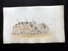 Catlin 1857 HCol North American Indian Print. Mandan Buffalo Dance 56
